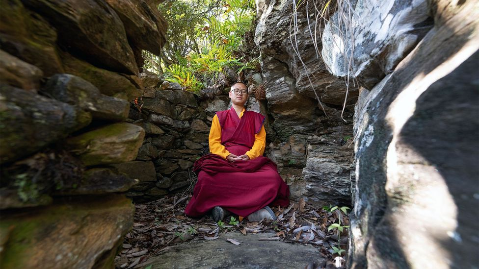 Rinpoche frequently visits his personal meditation cave in the forested hills behind the Sangchen Ogyen Tsuklag Monastery in Trongsa (Credit: Scott A Woodward)