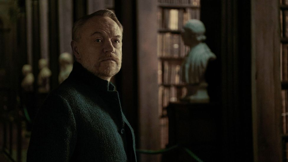 Jared Harris (best known for Mad Men and Chernobyl) plays Hari Seldon, who predicts the collapse of society (Credit: Apple TV+)