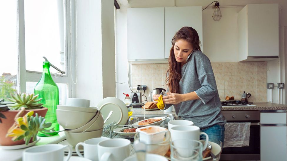 When the pandemic hit, many women found that their domestic responsibilities surged - making juggling work even harder (Credit: Getty)