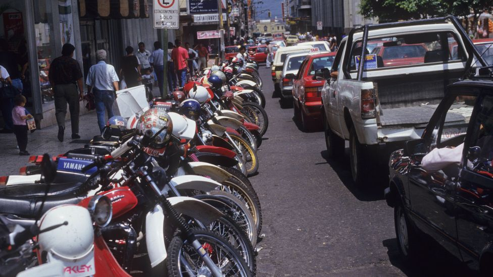 Costa Rica's transport sector remains a challenge for decarbonisation, with large numbers of inefficient vehicles using fossil fuels (Credit: Getty Images)
