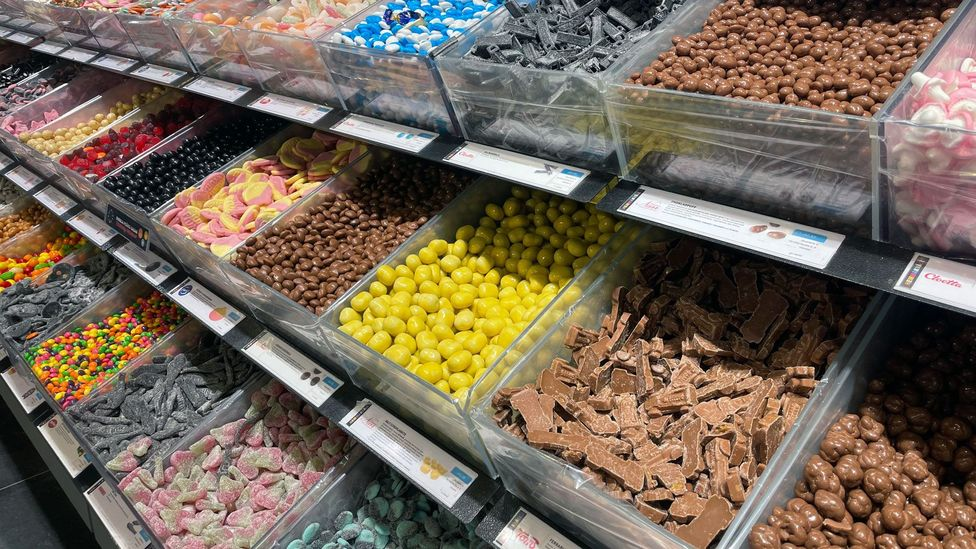 On Saturdays in Sweden, families head into sweets shops and load up on their once-weekly penny candy treats (Credit: Maddy Savage)