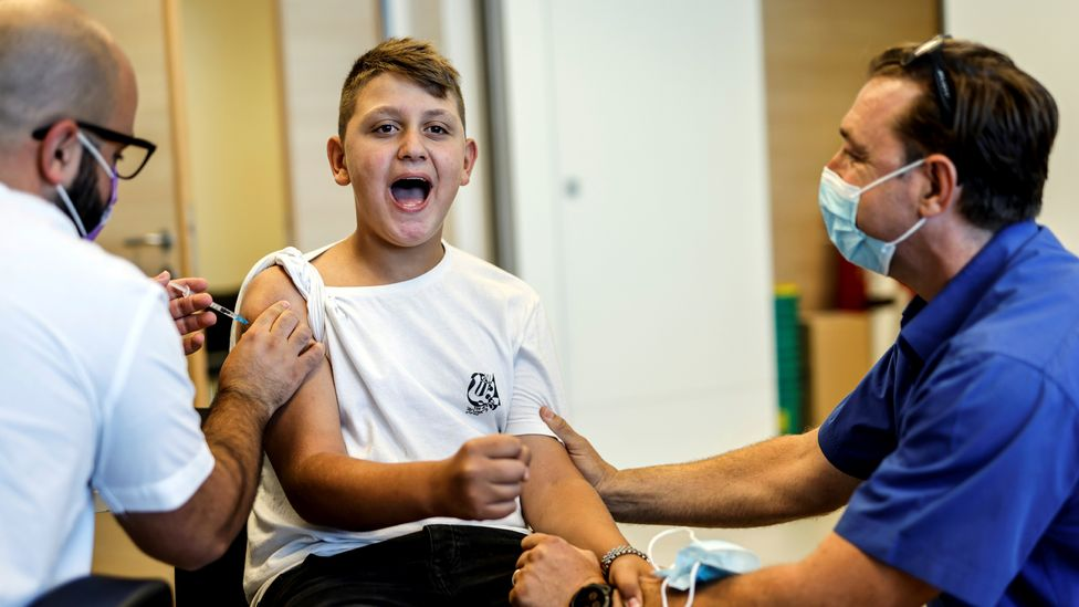 Israel has vaccinated more than half of 12 to 15-year-olds against Covid-19 – and even some younger children who are at special risk (Credit: Reuters)