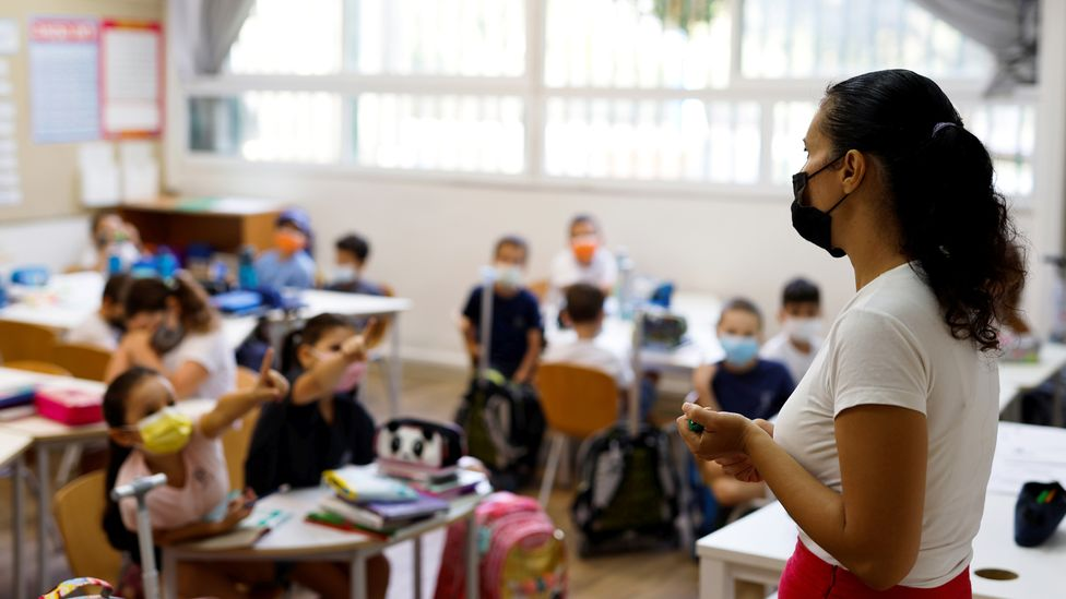 After Israeli schools opened in September, the number of children testing positive for Covid-19 began to soar (Credit: Reuters)