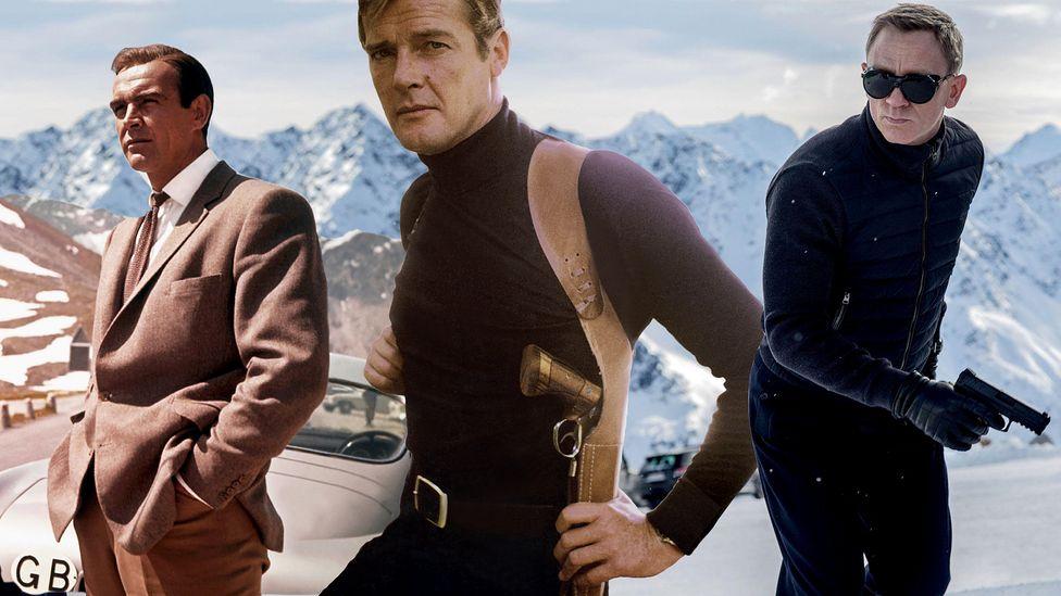 Three different iterations of James Bond
