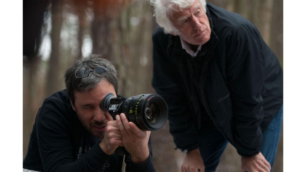 Denis Villeneuve and Director of Photography Roger Deakins on the set of thriller Prisoners; they have worked together on three films (Credit: Warner Bros Pictures)