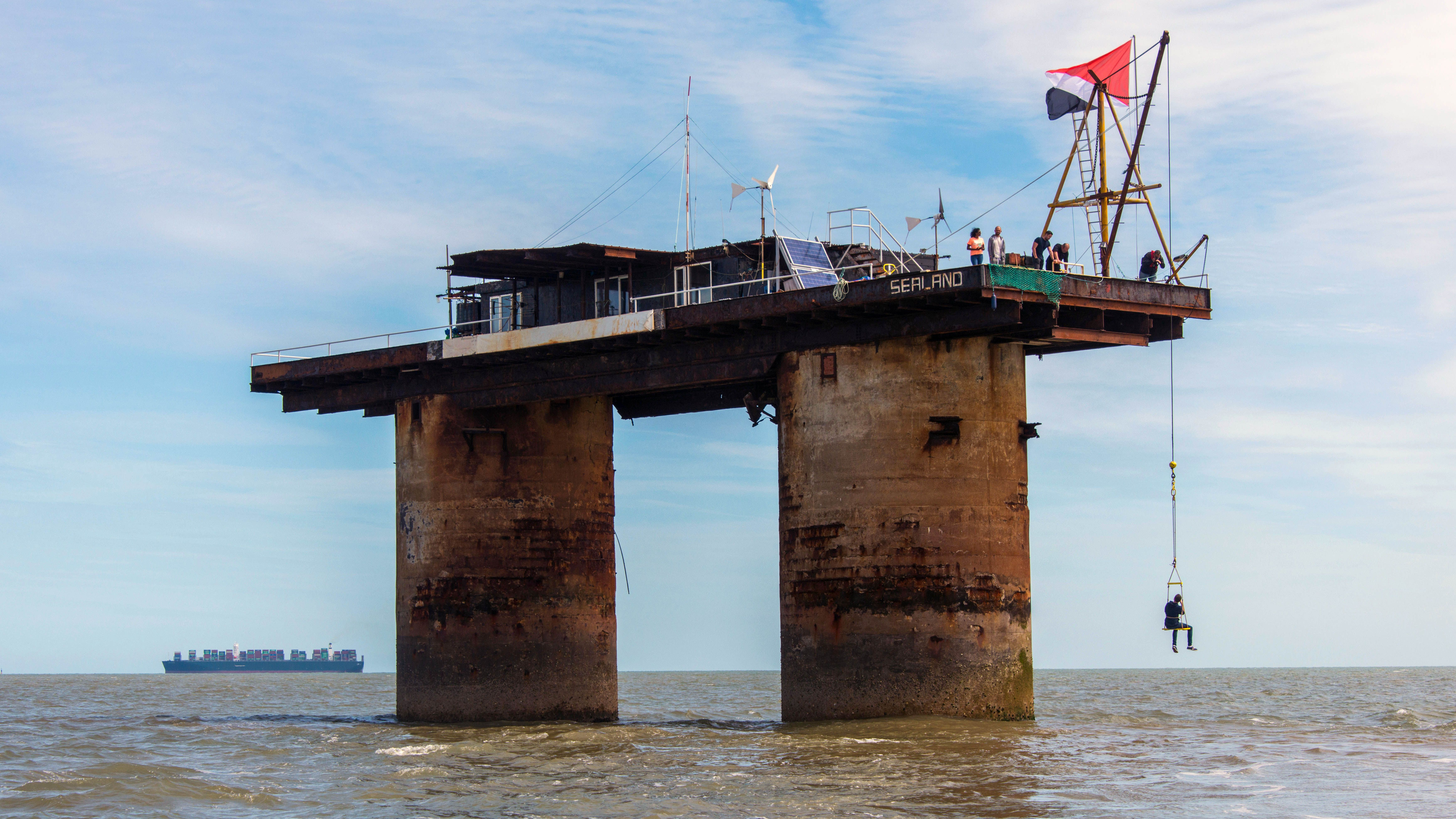 Sealand was founded as a sovereign principality in 1967 in international waters (Credit: Robert Harding/Alamy)
