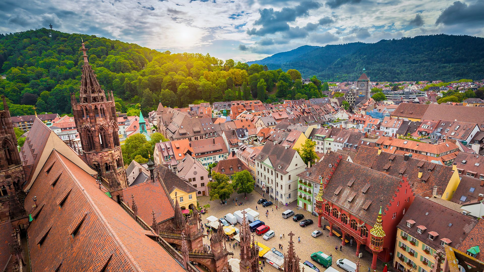 Set spectacularly at the foot of Germany's Black Forest, the medieval city of Freiburg is celebrating its 900th anniversary this year (Credit: bluejayphoto/Getty Images)