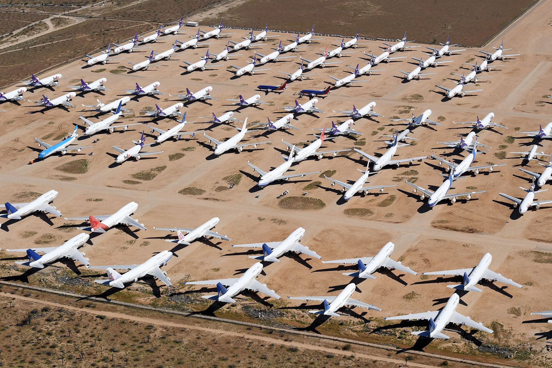 Parked airliners during lockdown (Creidt: Getty Images)