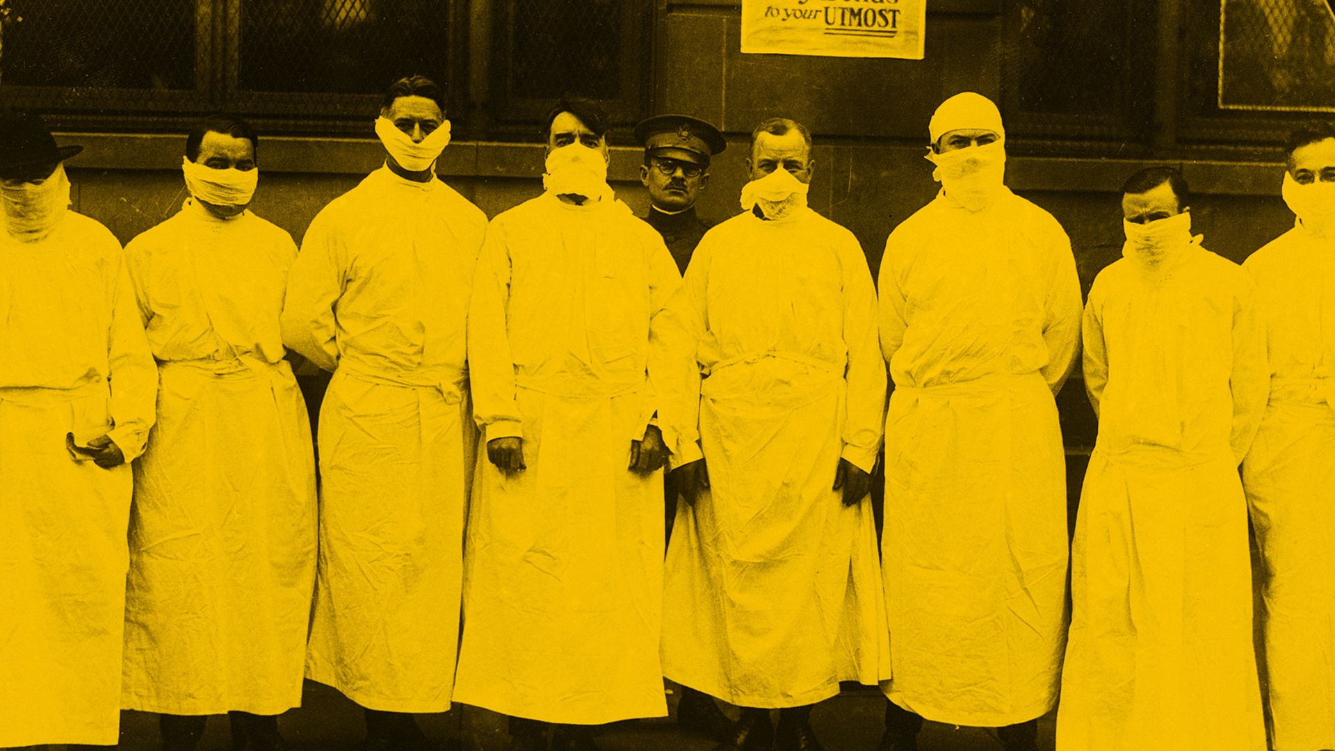 Doctors during 1918 flu pandemic (Credit: Getty Images)