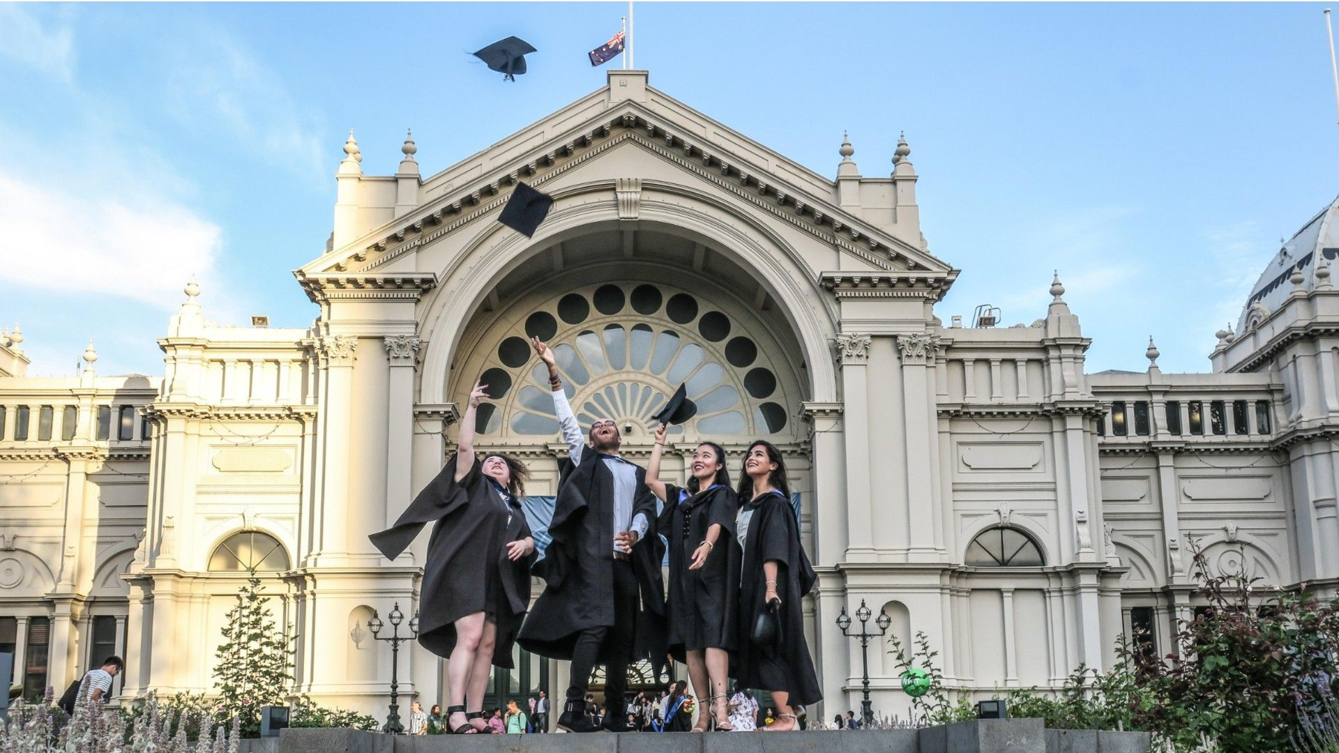 File image of graduates at University of Melbourne