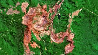 The Carajas Mine in Brazil, one of the largest iron ore mines on the planet (Credit: Getty Images)