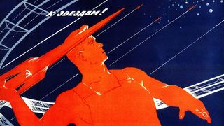 Soviet space poster from 1965 (Credit: Unknown/Alamy)