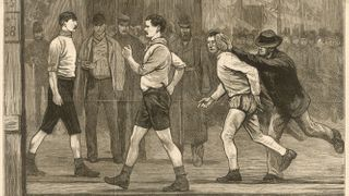 The 1878 Six Days' Race at the Royal Agricultural Hall, Islington (Credit: Alamy)